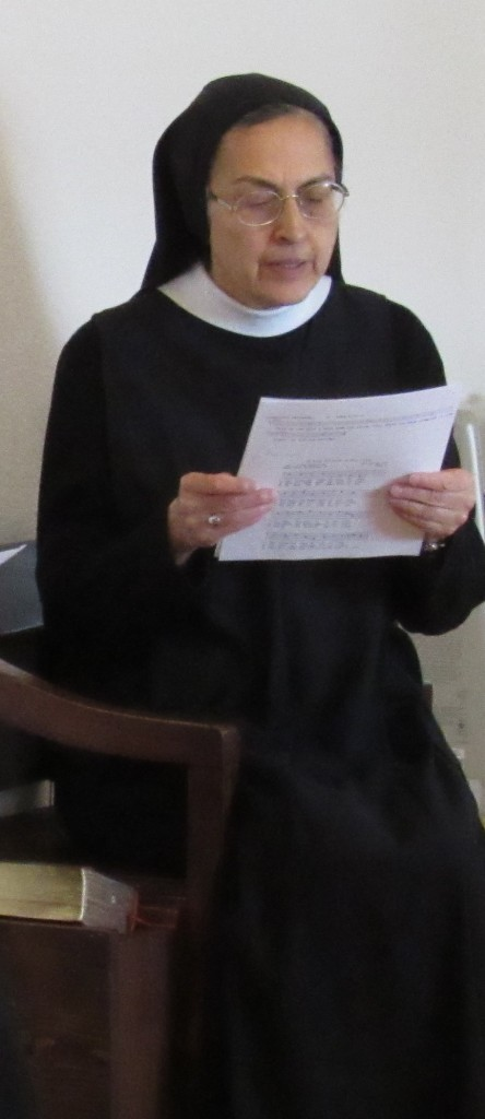 Sister Kateri in choir.
